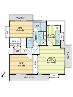 ライオンズマンション京王多摩川第3の間取図