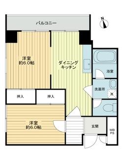 マンション第1多摩川苑の間取図