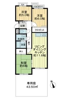 サンマンション東山元町Bの間取図