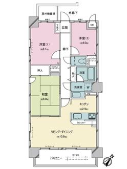 シティコート新松戸弐番館の間取図