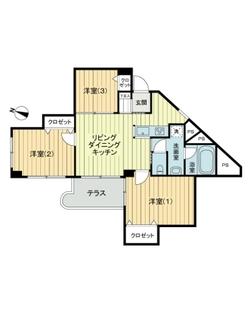 武蔵野グリーンタウンC棟の間取図