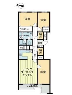 岡本タウンハウスの間取図
