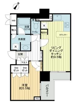 根津シティタワーの間取図