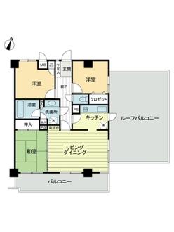 ライオンズマンション藤沢湘南台弐番館の間取図