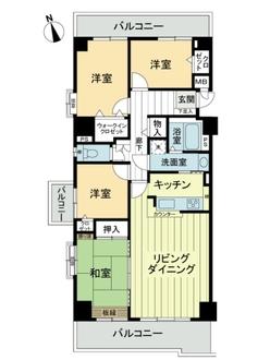 ライオンズマンションニューシティ蟹江六番館の間取図