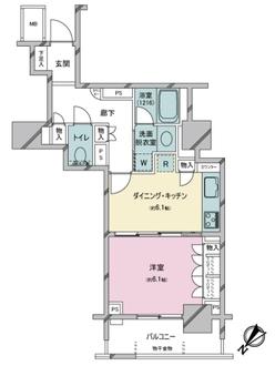ファミール月島グランスイートタワーの間取図