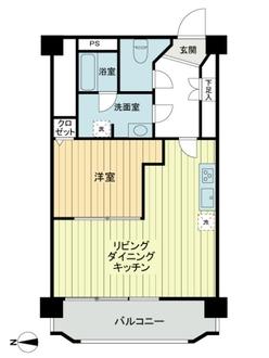 高円寺ダイヤモンドマンションの間取図