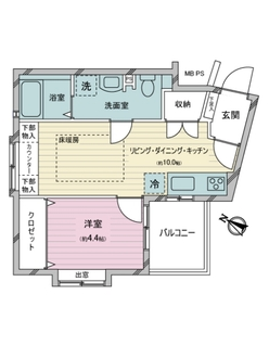 ジェイパーク恵比寿弐番館の間取図