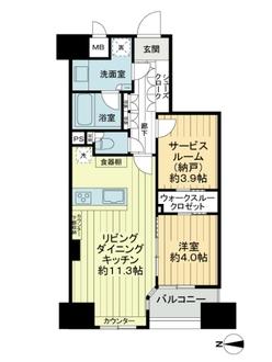 レジデンシャルステートタワー南千住の間取図