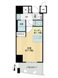 プレサンス覚王山D-Style2の間取図