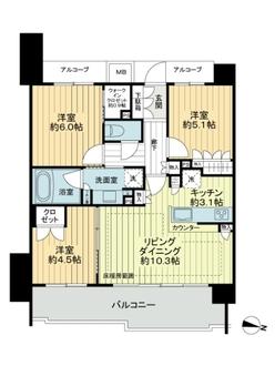 ザ・パークハウス志村坂上の間取図