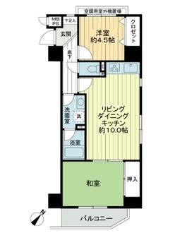 ライオンズマンション横浜リバーサイドの間取図