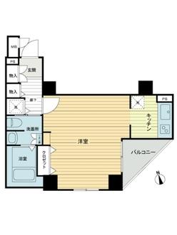 トーシンフェニックス新橋弐番館の間取図