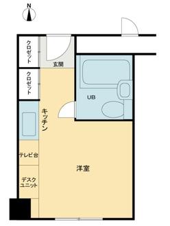 東カン名古屋キヤステールの間取図