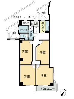 第2上板橋サンライトマンションE棟の間取図