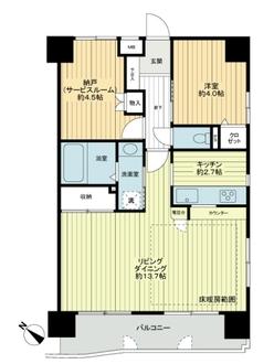 新横浜サニーコートの間取図