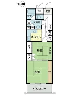 ライオンズマンション鎌倉日坂の間取図