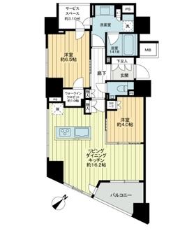 パークホームズ横濱山下町88番地の間取図