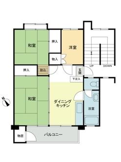 多摩川住宅 ハ-2号棟の間取図