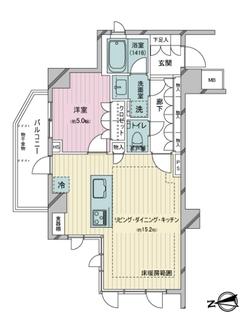オープンレジデンシア恵比寿ザ・ハウスの間取図