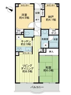 グリーンコーポ多摩センター弐番館の間取図