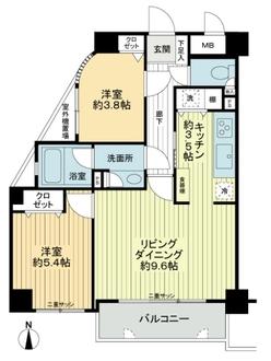 中村橋シティハウスの間取図