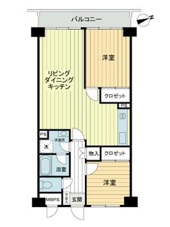 ライオンズマンション歌舞伎町の間取図