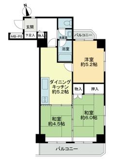藤沢ダイヤモンドマンションの間取図