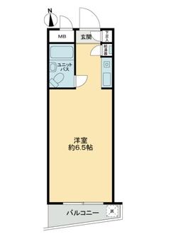 スカイコート桜新町の間取図