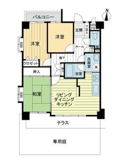 ライオンズマンション成願寺第2の間取図