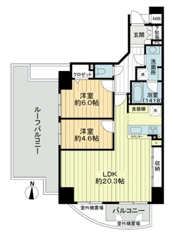 住吉清水丘シティタワーの間取図