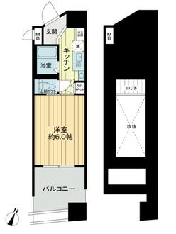 エステムコート大阪・中之島南の間取図