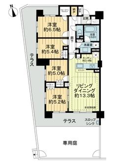 ザ・パークハウス多摩ニュータウン永山の間取図