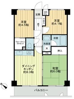 マイキャッスル宮崎台サウスコートの間取図