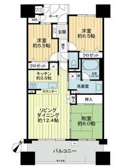キングマンション大阪ベイの間取図