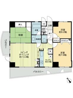町田パインマンション駅前通りの間取図