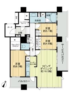 グランドメゾン京町堀タワーの間取図