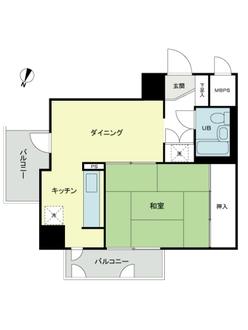 東建ニューハイツ西新宿の間取図