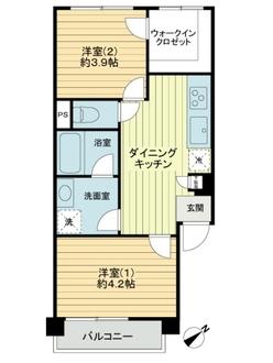 第3桜台マイコーポの間取図