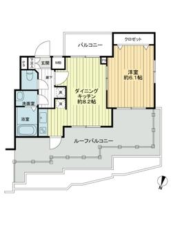 プレール・ドゥーク新高円寺の間取図