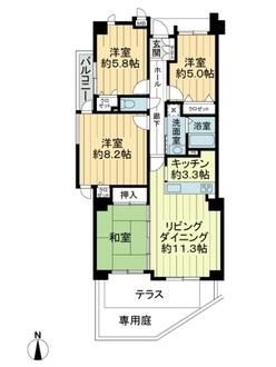 富士見台パークハイツ壱番館の間取図