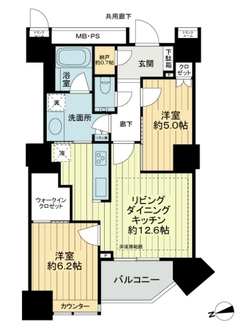 THE CENTER TOKYOの間取図