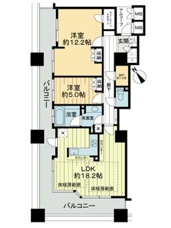 セントラルレジデンス天王寺シティタワーの間取図