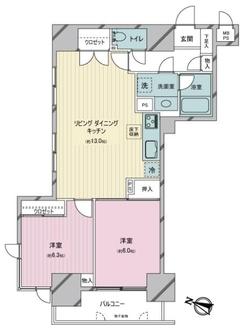 東大井シティハウスの間取図