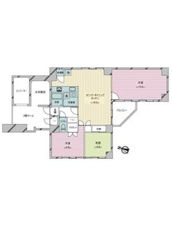 西五反田オークマンションの間取図