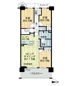 シャリエ新川崎の間取図