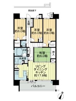 エムズシティ稲沢イーストスクエアの間取図