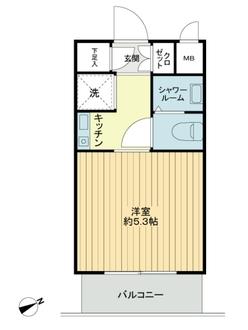 モナークマンション柿の木坂の間取図
