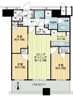 パークシティ武蔵小杉 ザ ガーデン タワーズイーストの間取図