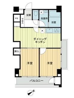 荻窪住宅 文化堂ビルの間取図